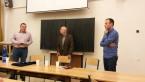 Adam Zagajewski hostem ostravských polonistů<br>Copyright: Urszula Pacíková