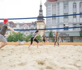 Studenti Ostravské univerzity na Masarykově náměstí