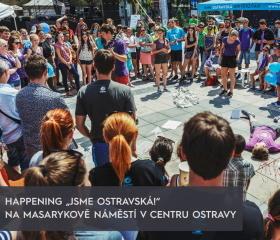 Happening na Masarykově náměstí Jsme Ostravská!