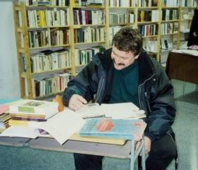 Otevření Univerzitního knihkupectví, prostor dnešní Voliéry 1998