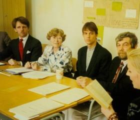 Státnice na Filozofické fakultě, katedře anglistiky 1997