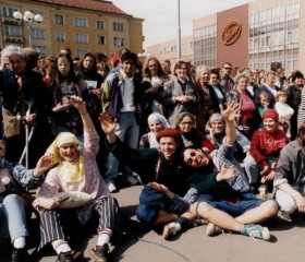 Majáles 1994 probíhal na Masarykově náměstí