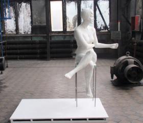 Veronika Plátková, Stánkařka, laminát, 180x156x102cm, 2010, diplomová práce