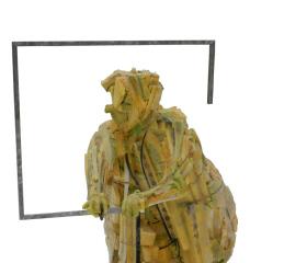 Martin Mydlarčík, Akční babička, laminát, hliník, 130x70x90cm, 2011, bakalářská práce