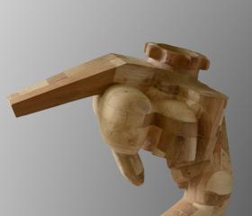 Jan Pawlas, Hupcuk, dřevo, 150x80x76cm, 2015, bakalářská práce