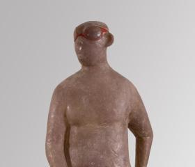 Eva Pospíchalová, Plavec, polyester, 75x39x205 cm, 2007, diplomová práce