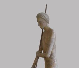 Hana Bučková, Meditace, laminát, 200x75x65cm, 2010, bakalářská práce