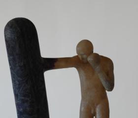 Petr Švolba, Do pytle, polyester, 152x106x58cm, 2010, bakalářská práce