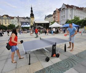 O sportovní vyžití se na Masarykově náměstí postarala firma DECATHLON