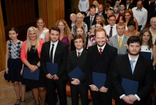 Promoce absolventů PřF OU - červen 2017<br>Autor: Kamila Kolowratová