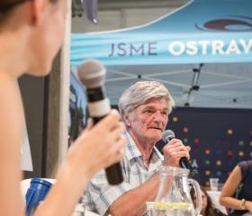 Pan Vojkůvka, předseda akční skupiny s lidmi bez domova Aslido