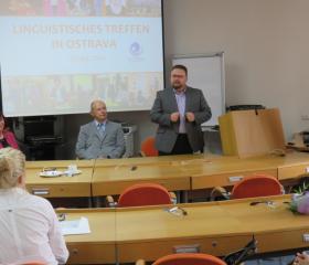 """Mezinárodní konference """"Linguistisches Treffen in Ostrava""""<br>Autor: Daniel Gomola"""