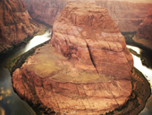 Horseshoe Band – známý zakleslý meandr řeky Colorado (Arizona)<br>Autor: J. Hradecký