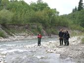 Silně zahloubené koryto pod malou vodní elektrárnou (Tatry, Slovensko)<br>Autor: J. Hradecký