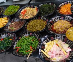Ukázka sečuánské kuchyně.