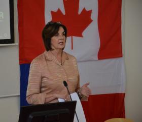 Kanadská velvyslankyně Její excelence Barbara C.Richardson naPřFOU