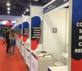 The line of Czech Universities awaiting visitors to China Education EXPO 2017