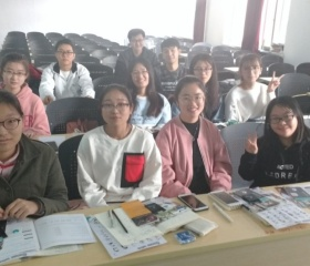 Hana's Czech class at Hebei GEO