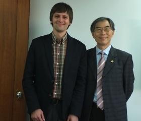 Společná fotka s prof. Yu-Tai Chingem, vedoucím mezinárodních vztahů na NCTU