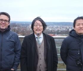 Návštěva delegace z Kanagawa University na střeše budovy PřF OU