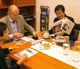 Jednání s reprezentanty Kanagawa University s rektorem OU a prorektorkou OU