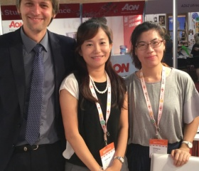První setkání s reprezentanty NTUE na konferenci EAIE v Seville v září 2017
