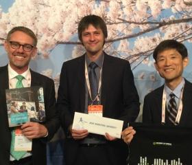 První setkání s reprezentanty Aichi Shukutoku University v Nagoji na EAIE konferenci
