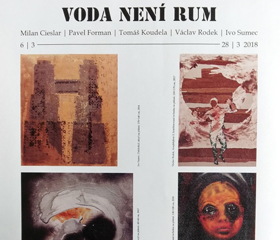 Vernisáž výstavy Voda není rum