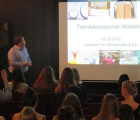 Translatologický workshop katedry germanistiky<br>Autor: Eva Polášková