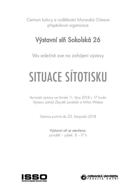 Pozvánka na výstavu Situace sítotisku