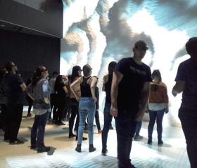 3D projekce Ars Electronica<br>Autor: Tereza Haltmarová