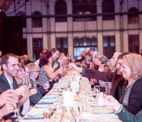 Společná večeře zaměstnanců Ostravské univerzity 2016 v Trojhalí Karolina