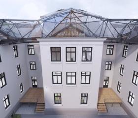 Vizualizace modernizace budovy Přírodovědecké fakulty Ostravské univerzity na ulici 30. dubna, Architektonický ateliér Velehradský