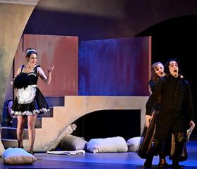 Veronika Andrašková (Carlotta), Roman Vlkovič (Lumaca), Ihor Maryshkin (Blasio), Aneta Schwarzová (C…<br>Author: Martin Popelář