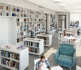 Nový univerzitní obchod, který nahradí Univerzitní knihkupectví na ulici Mlýnské v centru Ostravy.