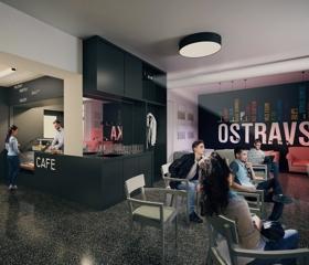 Denní místnost pro studenty v téže budově na ulici Mlýnské se promění v útulnou kavárnu.