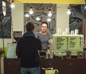 Kavárna vodpočívárně na Pedagogické fakultě OU
