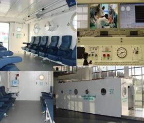 Plánovaná vícemístná kvadratická komora HAUX-QUADRO 2700-2200/2.2 v Centru hyperbarické medicíny Městské nemocnice v Ostravě.