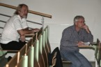 Přednášky se zájmem sledoval také vedoucí katedry prof. Vladimír Baar (vlevo)