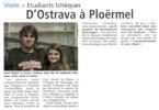 Exkurze do Bretaně - články v místním tisku