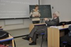 Sekce matematiky - prof. Olga Krupková v živé diskuzi s dr. Hrubým