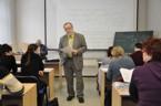 Sekce matematiky - dr. Josef Kubát přednáší na téma Metody řešení důkazových matematických úloh