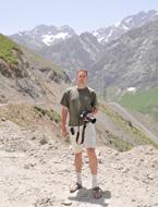 Vítězslav Plášek při sběru biologických dat (Tádžikistán 2008)