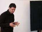 Stefan Döhnert předvedl divadelní představení na téma Literární sborník 7edm v posledním ročníku