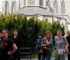 Sedlec u Kutné Hory; pohled na závěr klášterní baziliky