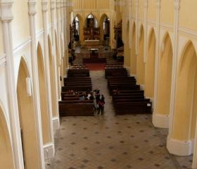 Sedlec u Kutné Hory; v interiéru kostela Nanebevzetí PM - výklad Dr. Rywikové z perspektivy Santiniho Aichla