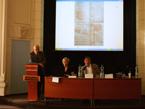 Doc. Černý (přednášející), dr. Rywiková a prof. Ivo Hlobil z Ústavu dějin umění AV ČR (7/15)