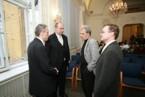 Zleva doc. Hančl, Ing. Groll, prof. Močkoř, doc. Šaloun