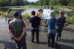 Terénní seminář fluviální geomorfologie v Zakopané 2012 - představení managementu polských štěrkonoských řek