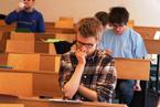 Soutěžní úlohy byly i letos zapeklité a řešení našli jen skuteční borci<br>Copyright: Ostravská univerzita v Ostravě, foto: Hana Jenčová